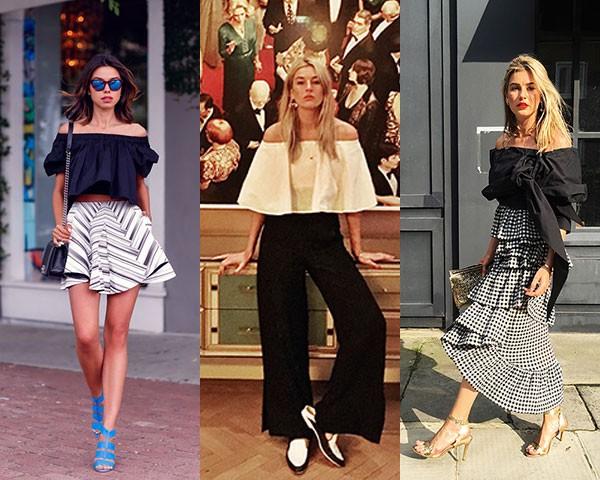 Blusa ombro a ombro: tendência forte parao verão (Foto: Instagram)
