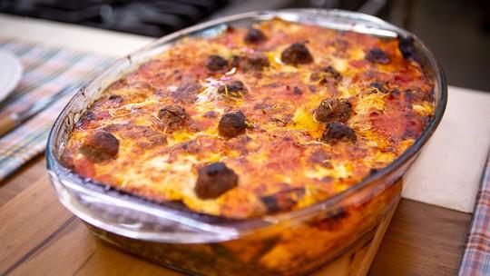 Lasanha com  Polpetas do Chef Ravioli