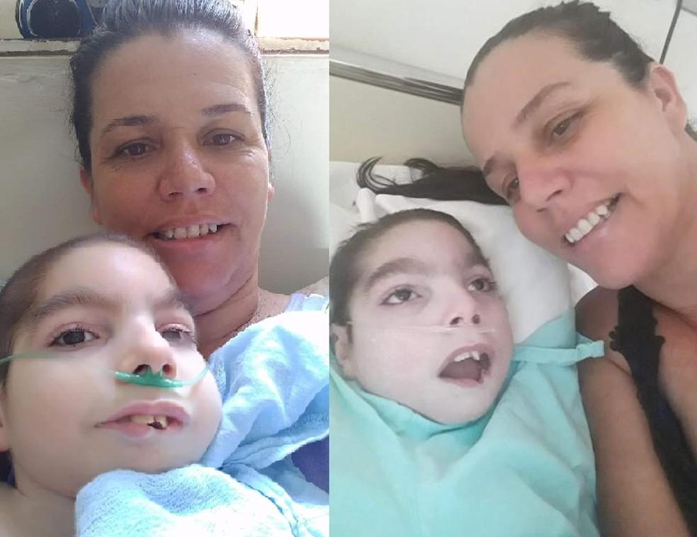 Gabriel tinha microcefalia e morreu depois de quatro dias de internação no HC de Botucatu — Foto: Neiva Prudente/Arquivo pessoal