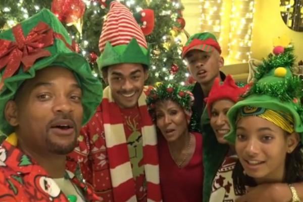 Will Smith e sua família (Foto: Reprodução Instagram)