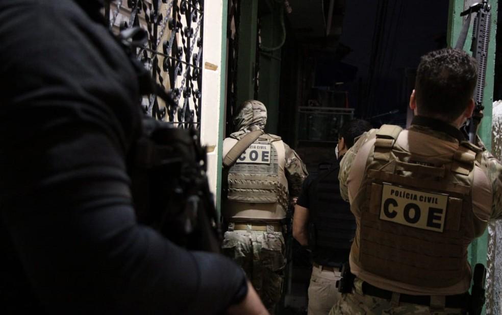 Operações foram deflagradas nesta quarta-feira — Foto: Haeckel Dias/Polícia Civil