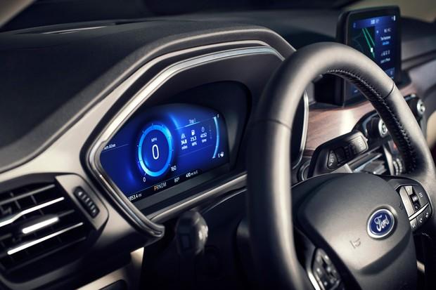 Quadro de instrumentos digital é de série no Ford (Foto: Divulgação)