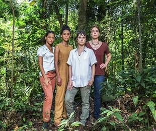 Thainá Duarte, Taís Araújo, Débora Falabella e Leandra Leal em 'Aruanas' | Divulgação/TV Globo