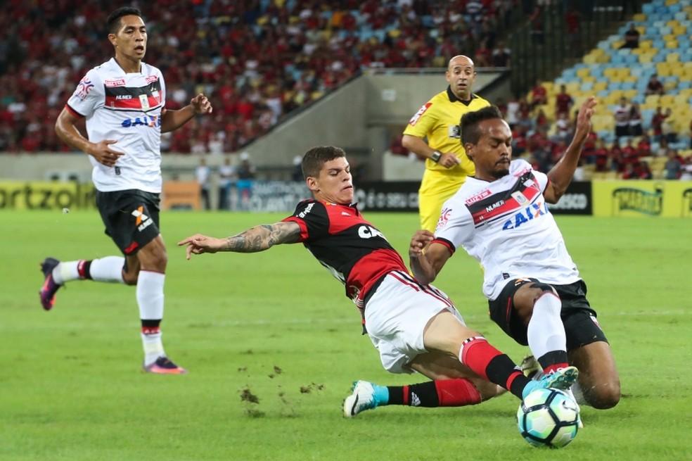 Ronaldo em seu último jogo pelo Flamengo, em maio de 2017,  (Foto: Gilvan de Souza )