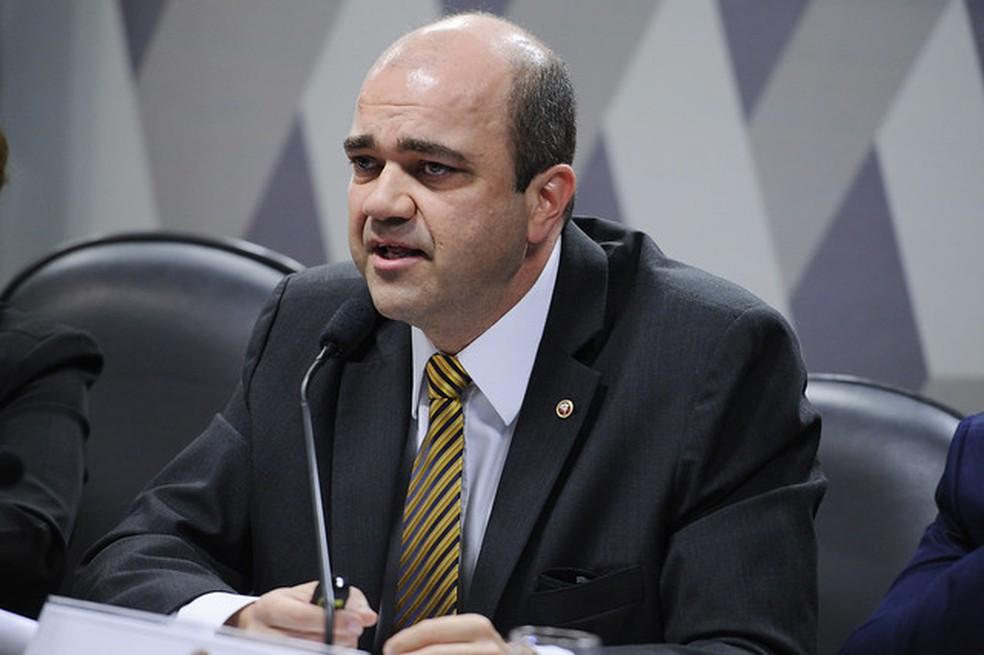 O procurador-geral do Trabalho, Ronaldo Fleury, em audiência sobre a reforma trabalhista no Senado — Foto: Edilson Rodrigues/Agência Senado