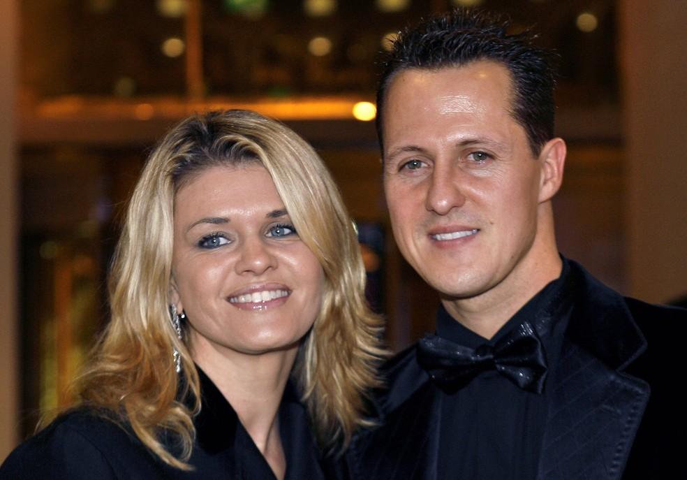 Corinna Schumacher, esposa do heptacampeão Michael Schumacher — Foto: Reprodução/Twitter