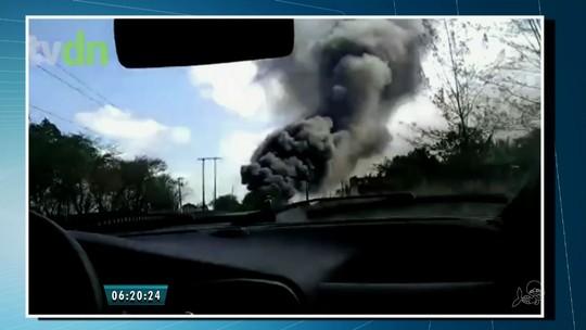 Incêndio atinge fábrica de calçados em Guaiúba, na Grande Fortaleza