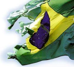 Brasil, bandeira, rasgado, falido (Foto: Arquivo Google)