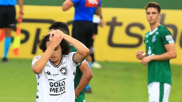 Goiás 2 x 0 Botafogo - Matheus Nascimento fez um bom lance no primeiro tempo