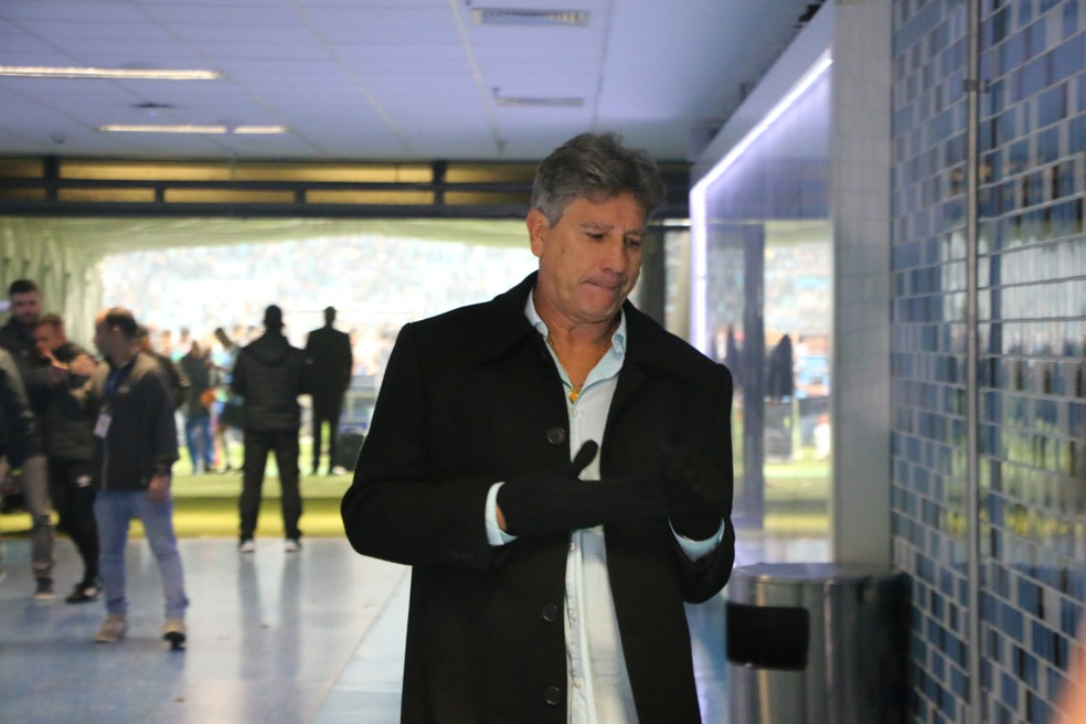 Renato Gaúcho após empate do Grêmio com o Bahia — Foto: Eduardo Moura