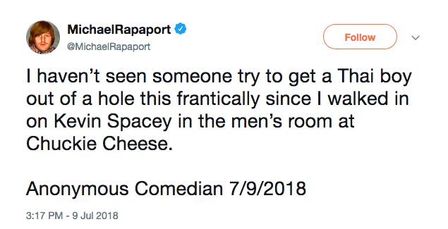 A piada polêmica feita pelo ator Michael Rapaport (Foto: Twitter)