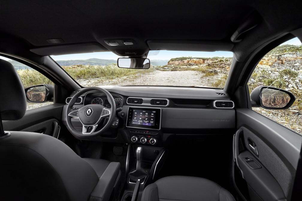 Interior do novo Renault Duster — Foto: Divulgação/Renault