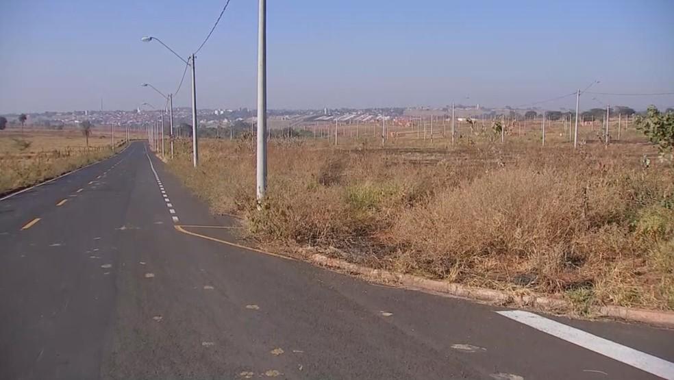 Local onde o advogado foi morto em Rio Preto (Foto: Reprodução/TV TEM)