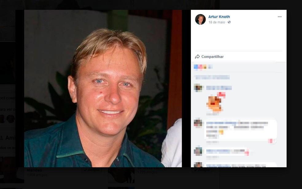 Artur Knot, de 38 anos, é morador do município de Valença (Foto: Reprodução / Facebook)