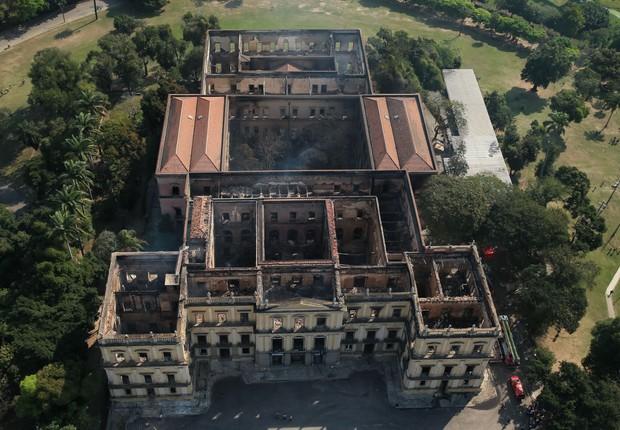 Museu Nacional destruído após incêndio (Foto: Buda Mendes/Getty Images)