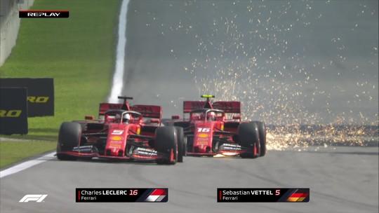 """Chefe da Ferrari coloca panos quentes após batida entre Vettel e Leclerc: """"Todos desapontados"""""""
