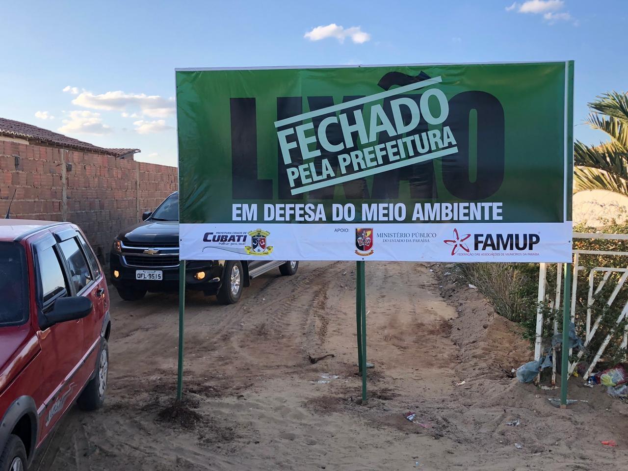 Lixões são fechados em São Sebastião do Umbuzeiro e Cubati, na Paraíba - Notícias - Plantão Diário
