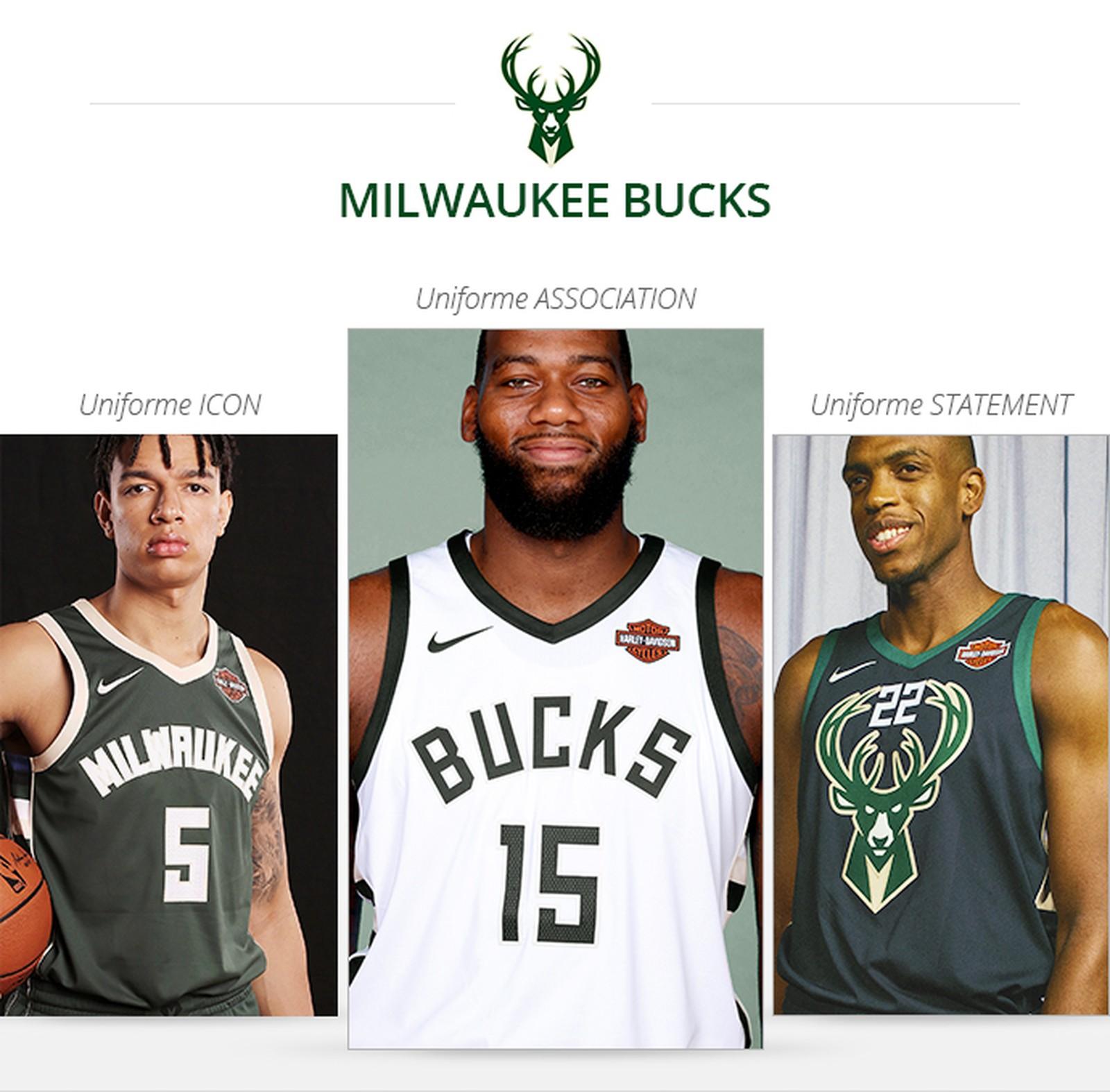 Uniformes Milwaukee Bucks saison 2017/18