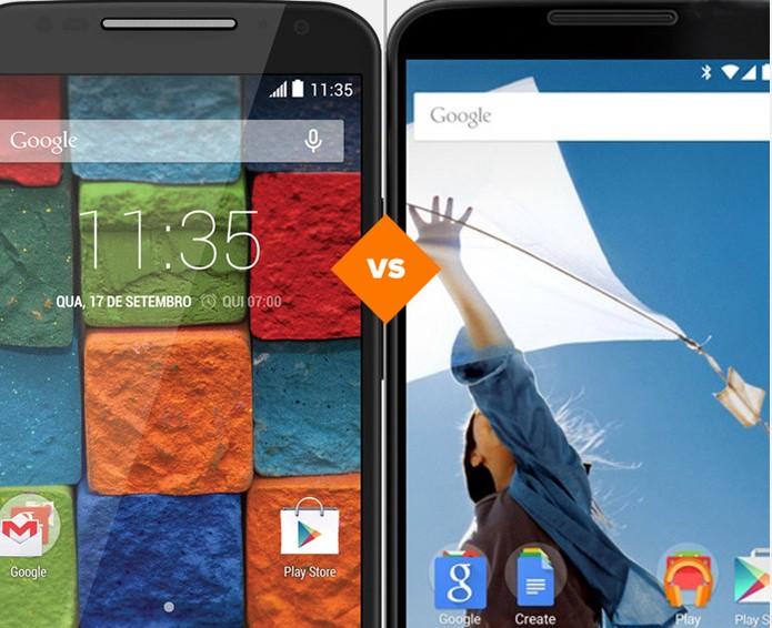 Novo Moto X ou Nexus 6? Confira o comparativo de celular da semana (Foto: Novo Moto X ou Nexus 6)
