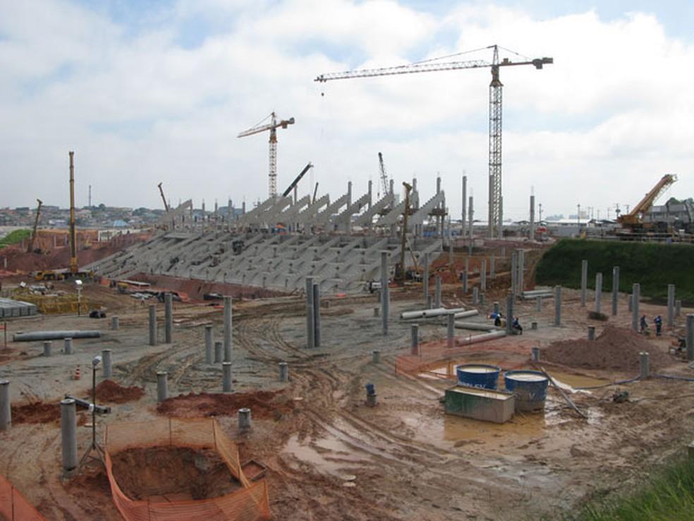 Construção da Arena Corinthians (Foto: Letícia Macedo / G1)