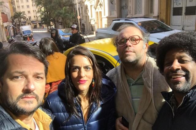 Marcelo Serrado, Luciana Paes, Otávio Müller e Aílton Graça  (Foto: Arquivo pessoal)