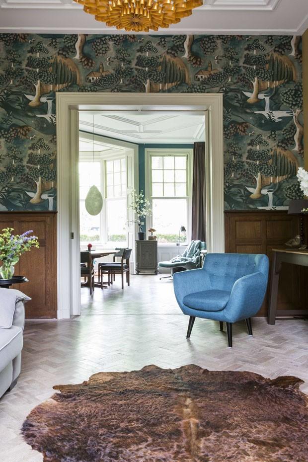 Décor do dia: tons de verde e azul integram espaços vintage (Foto: Divulgação)