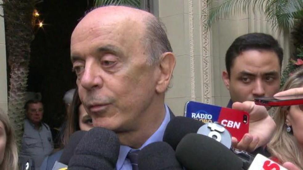 José Serra — Foto: Reprodução/GloboNews