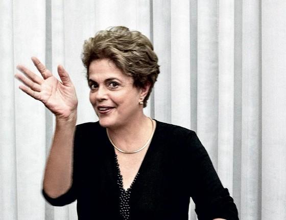 Presidente afastada Dilma Rousseff durante entrevista para revista Marie Claire de agosto (Foto: Bob Wolfenson/ Marie Claire)