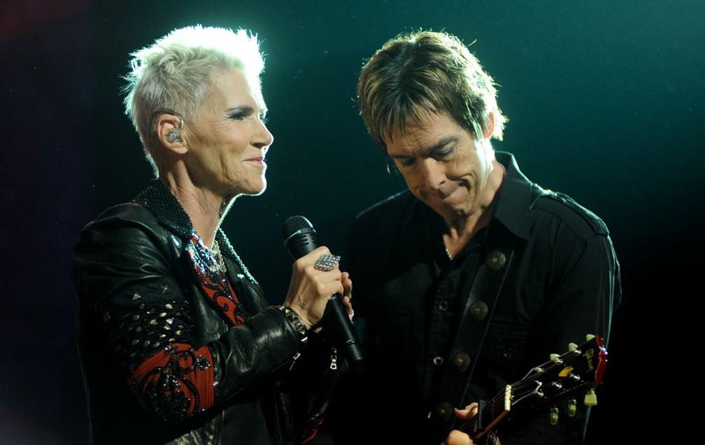 Banda ficou fora dos palcos após a vocalista Marie Fredriksson ser diagnosticada com um tumor maligno no cérebro. — Foto: Flavio Moraes / G1