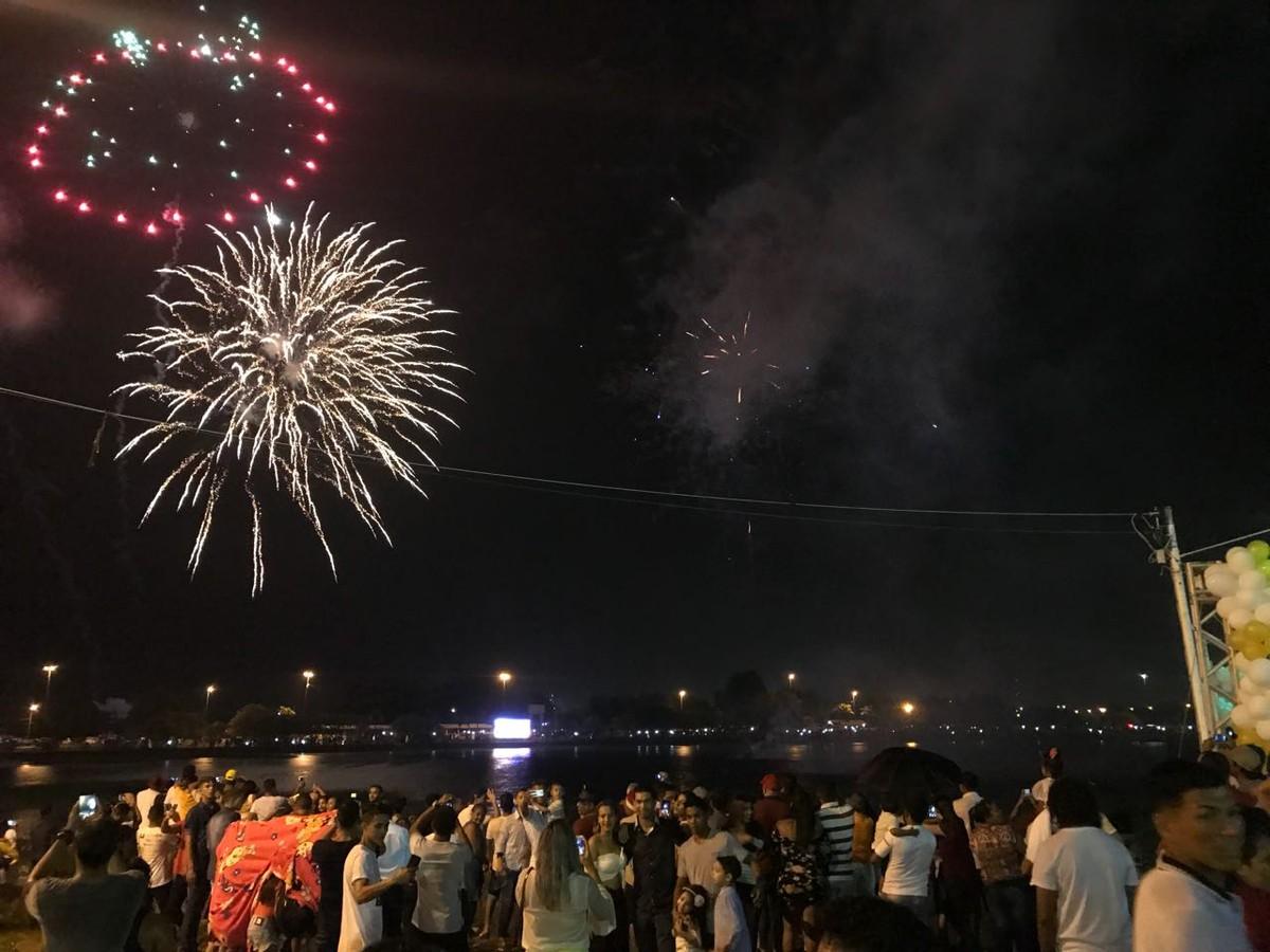 Chegada de 2018 em Boa Vista é celebrada com festa no Parque Anauá; FOTOS