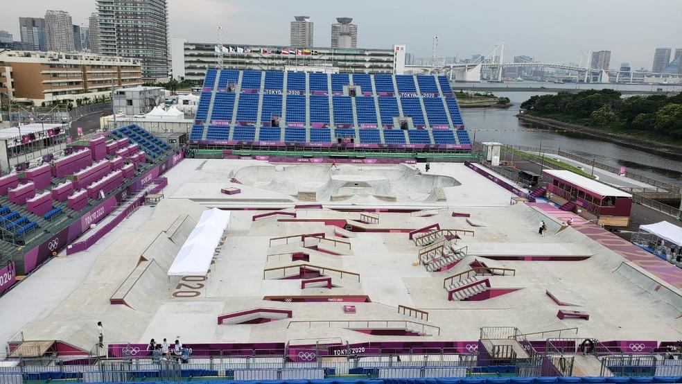 Arena do skate e BMX: Ariake Urban Sports Park — Foto: Ge.Globo