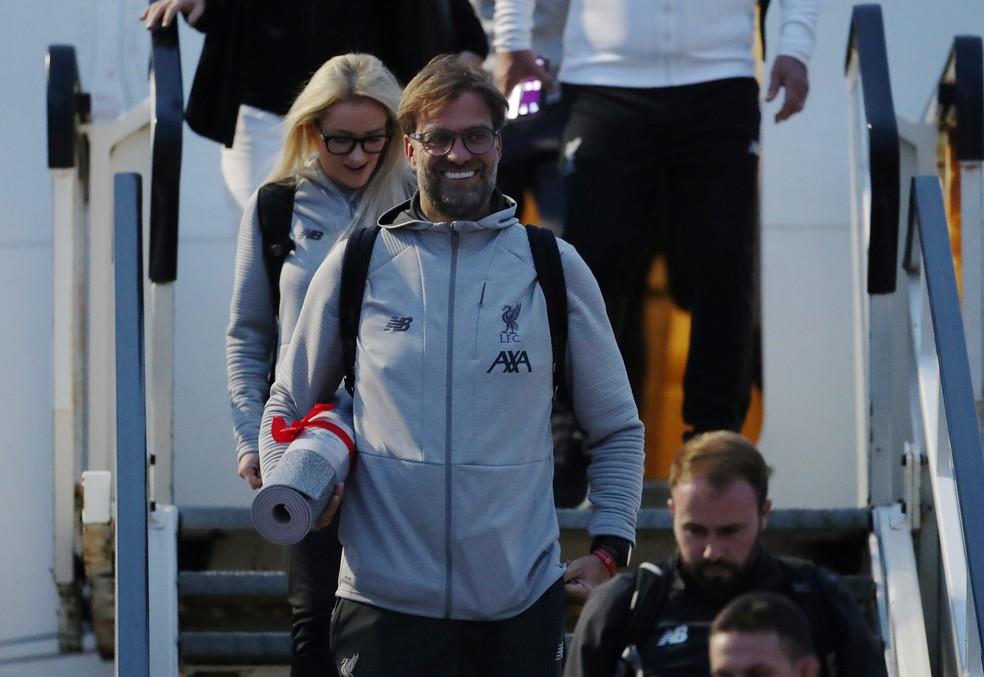 Klopp na chegada a Liverpool — Foto: Reuters/Carl Recine