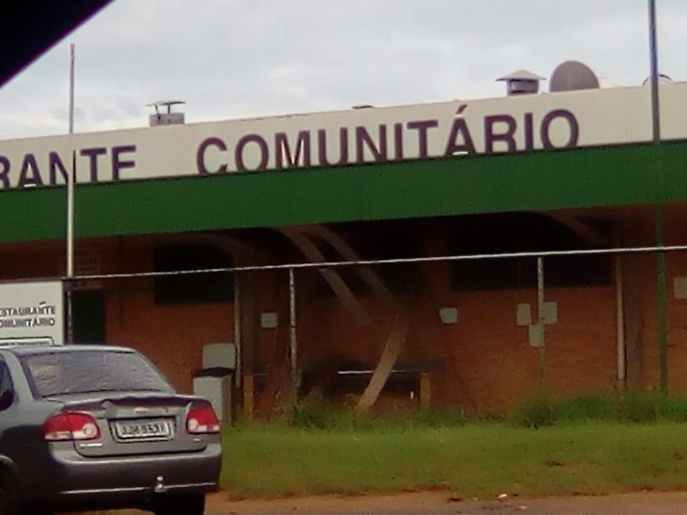 Restaurante comunitário onde panela explodiu, no DF — Foto: Arquivo Pessoal