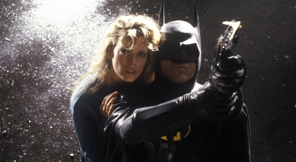 Kim Basinger e Michael Keaton em cena de 'Batman' (Foto: Divulgação)