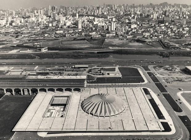 O Parque Anhembi foi projetado por Jorge Wilheim e Miguel Juliano, em 1968 (Foto: Leonardo Finotti/ Acervo CA)