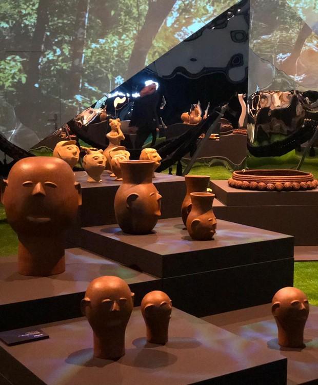 Vasos Cabeça de cerâmica, pelos designers Mestre Cida e Mestre Neguinha em parceria com Marco 500  (Foto: Casa e Jardim)