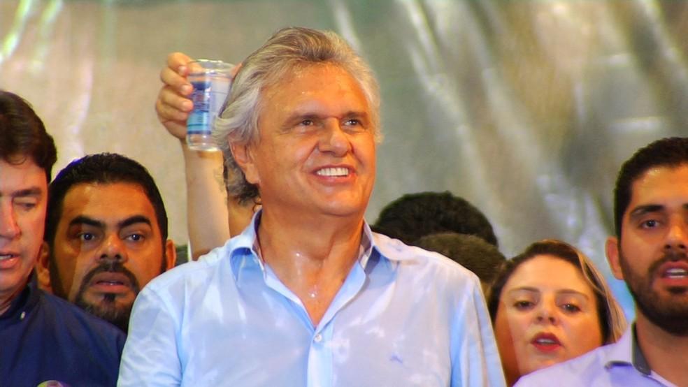 Ronaldo Caiado é candidato a governador de Goiás pelo DEM (Foto: Reprodução/ TV Anhanguera)