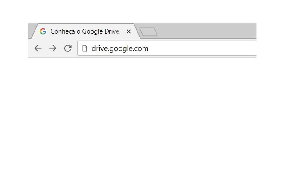 Acesse o Google Drive pelo navegador — Foto: Reprodução/Gabriel Ribeiro