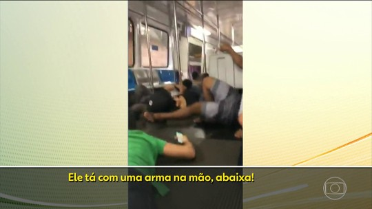 Assaltante mantém passageiro do metrô refém, no Rio