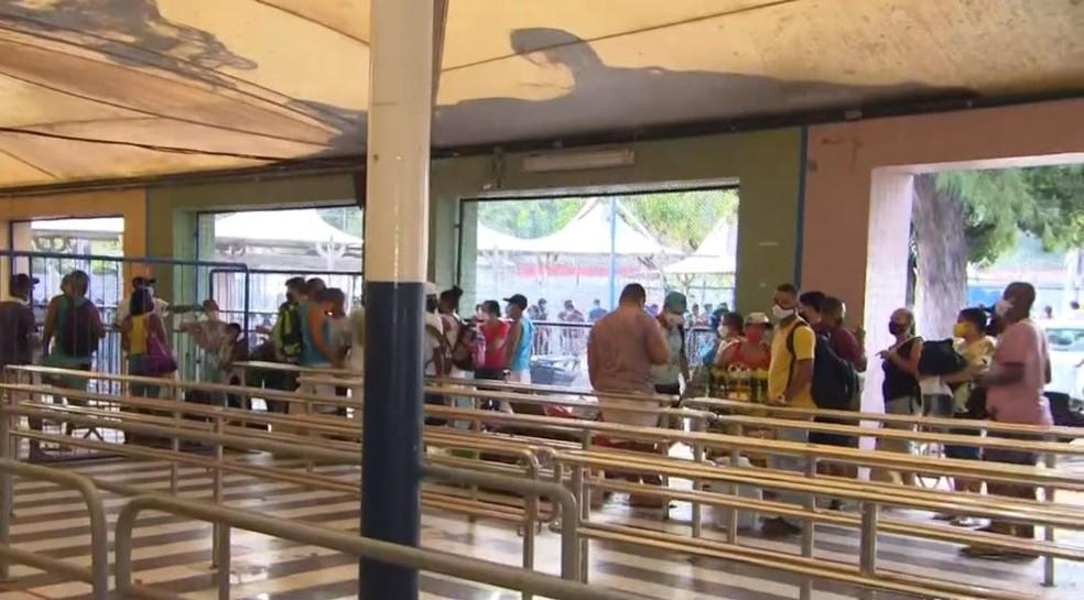 Áreas dos guichês para compra de passagens no sistema ferry boat, em Salvador — Foto: Reprodução/TV Bahia