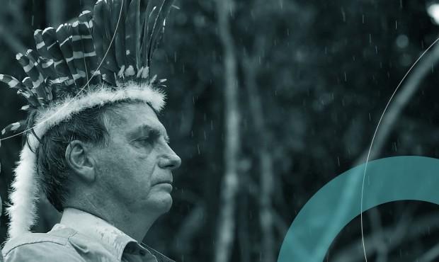 De cocar, Bolsonaro participa da inauguração de ponte no Amazonas: caciques de partidos resistem a presidente