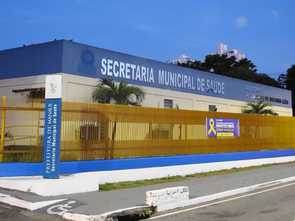 Secretaria Municipal de Saúde (Semsa), em Manaus — Foto: Rickardo Marques/G1 AM