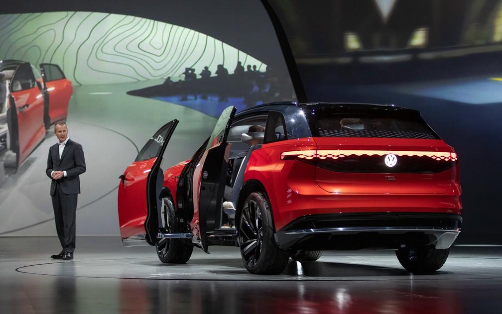 Volkswagen ID Roomzz na prévia do Salão de Xangai — Foto: Divulgação