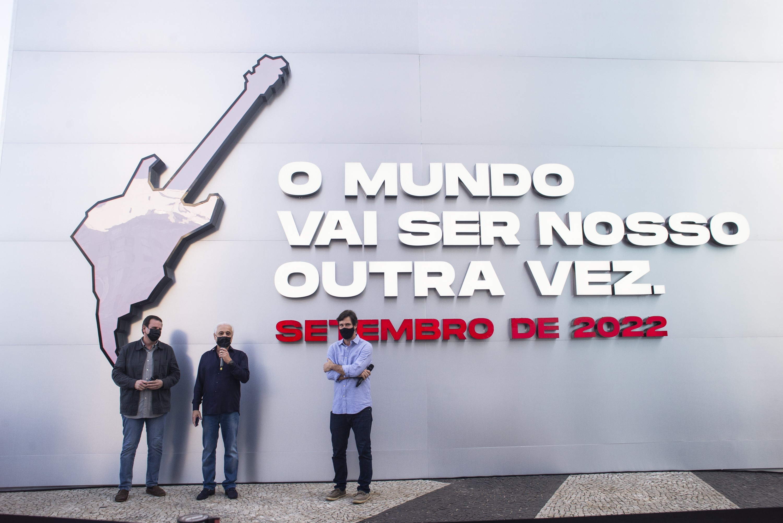 Inauguração de relógio com contagem regressiva para o Rock in Rio 2022 (Foto: Divulgação / Rock in Rio)