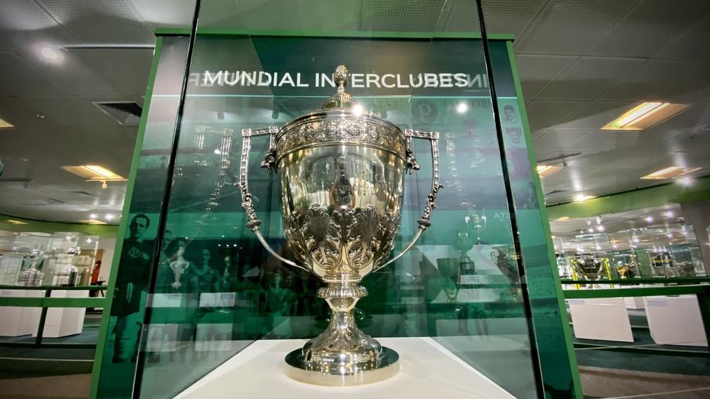 Nova sala de troféus do Palmeiras — Foto: Palmeiras