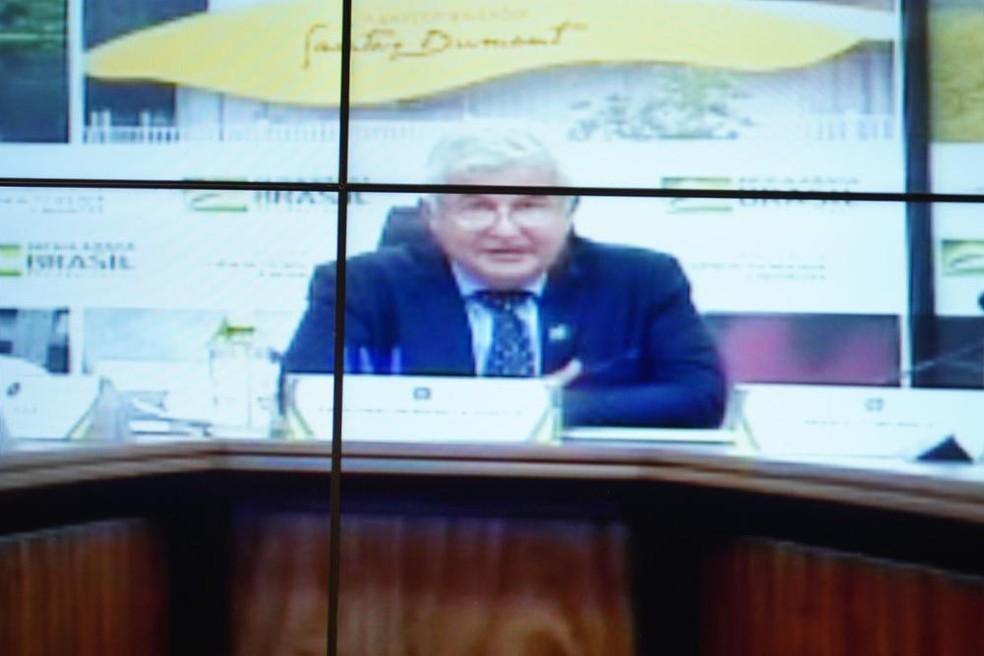 O ministro Marcos Pontes (Ciência e Tecnologia) durante audiência na Câmara — Foto: Will Shutter/Câmara dos Deputados