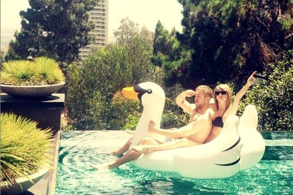 Taylor Swift e Calvin Harris (Foto: Instagram)