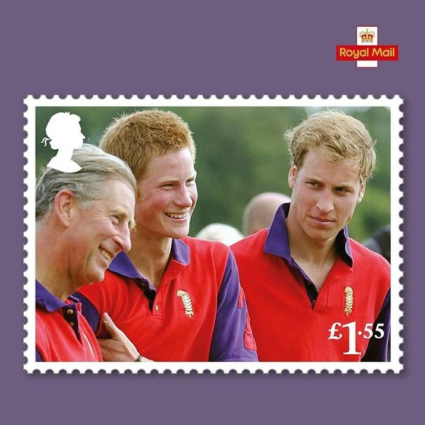 Selo comemorativo dos 70 anos do príncipe Charles (Foto: divulgação)