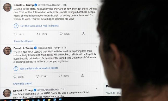 Mensagens de Trump recebem selo do Twitter