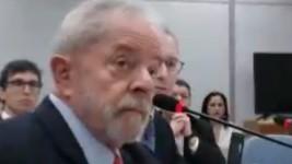 Lula discute com  juíza no começo da audiência (Reprodução)